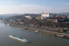 Toller Ausblick auf das Bratislaver Schloss