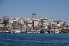 Blick zurück zum Galata tower