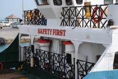 Alles für die Sicherheit! Zumindest gibt es Rettungsringe.