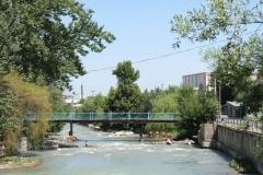 Der kleine Fluss dient für eine Abkühlung bei fast unerträglichen 40°C