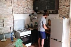 Eine Küche zum Mitnutzen. Davon machen wir ausgiebig Gebrauch :-)