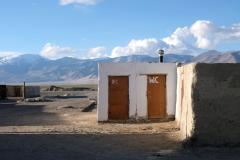 Auch hier sind die Toiletten von einem schönen Panorama umgeben