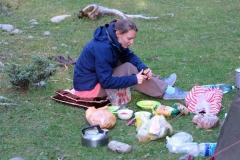 ...bevor wir uns danach um die Zubereitung des Abendessens kümmern müssen.