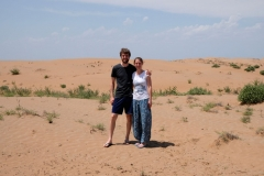 Auf einmal stehen wir in der Wüste!