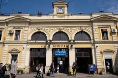 Der Belgrader Bahnhof - allerdings an unserem Abfahrtstag aufgenommen :-)