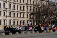 Demonstration gegen Fremdenfeindlichkeit
