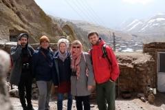 Mit Aryan, Hamid und Heike
