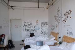 Unser nettes, aber kaltes, Hostelzimmer in Tashkurgan