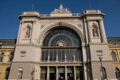 Angekommen am Bahnhof Keleti in Budapest