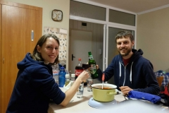 Abendessen in unserem gemieteten Appartment in Warna