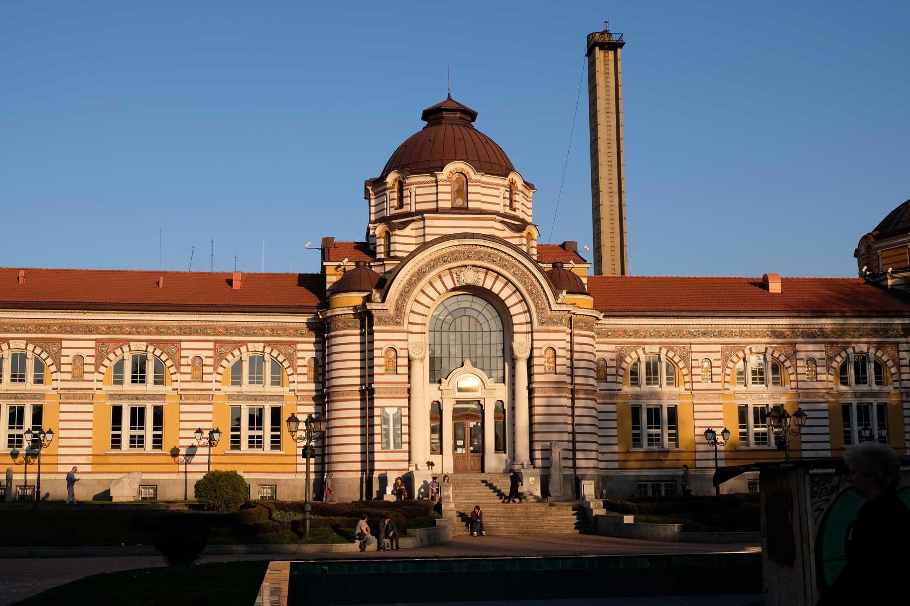 Das zentrale Mineralbad Sofia - früher ein Mineral- und Schwimmbad, heute ein Museum