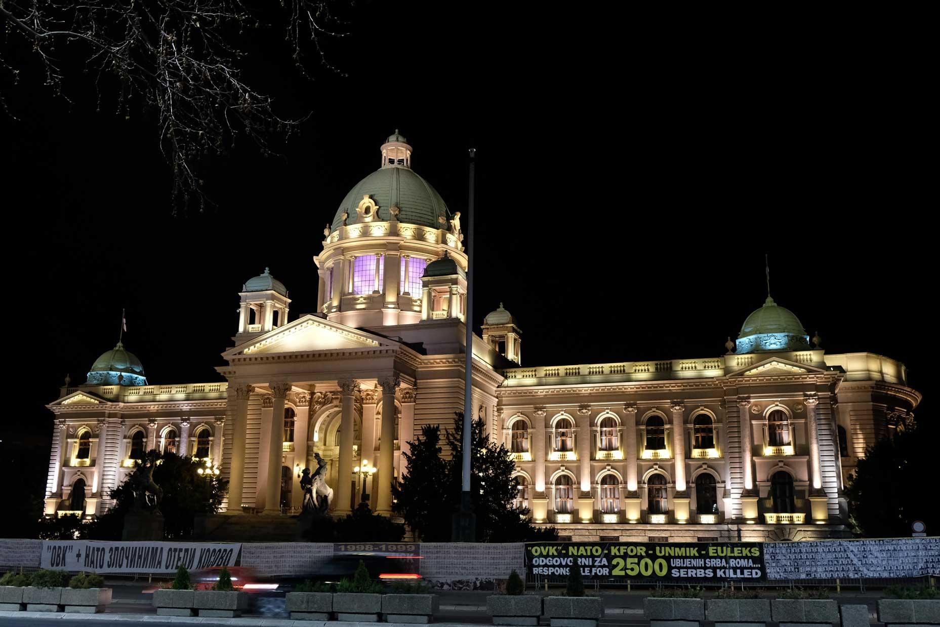 Auch Belgrad bei Nacht hat Einiges zu bieten