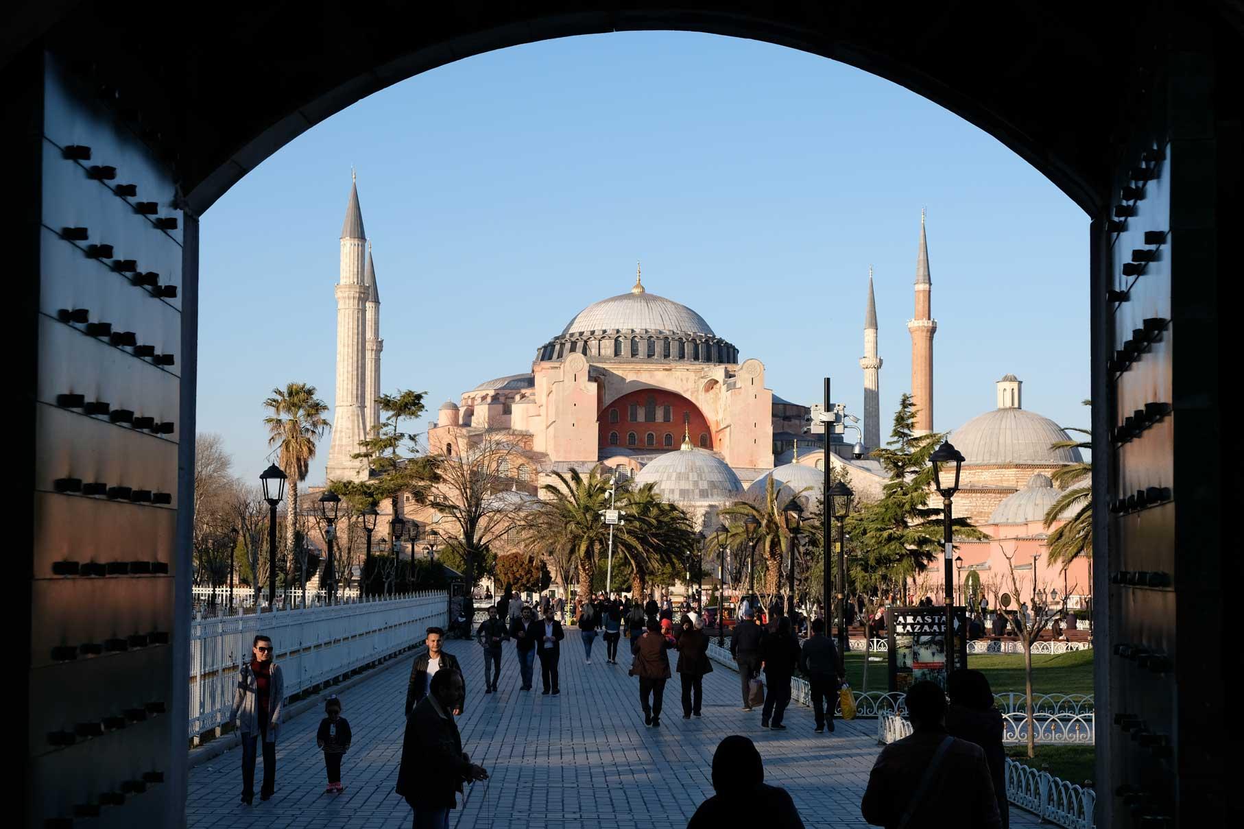 Die Hagia Sophia, auch nur von außen sehr beeindruckend!