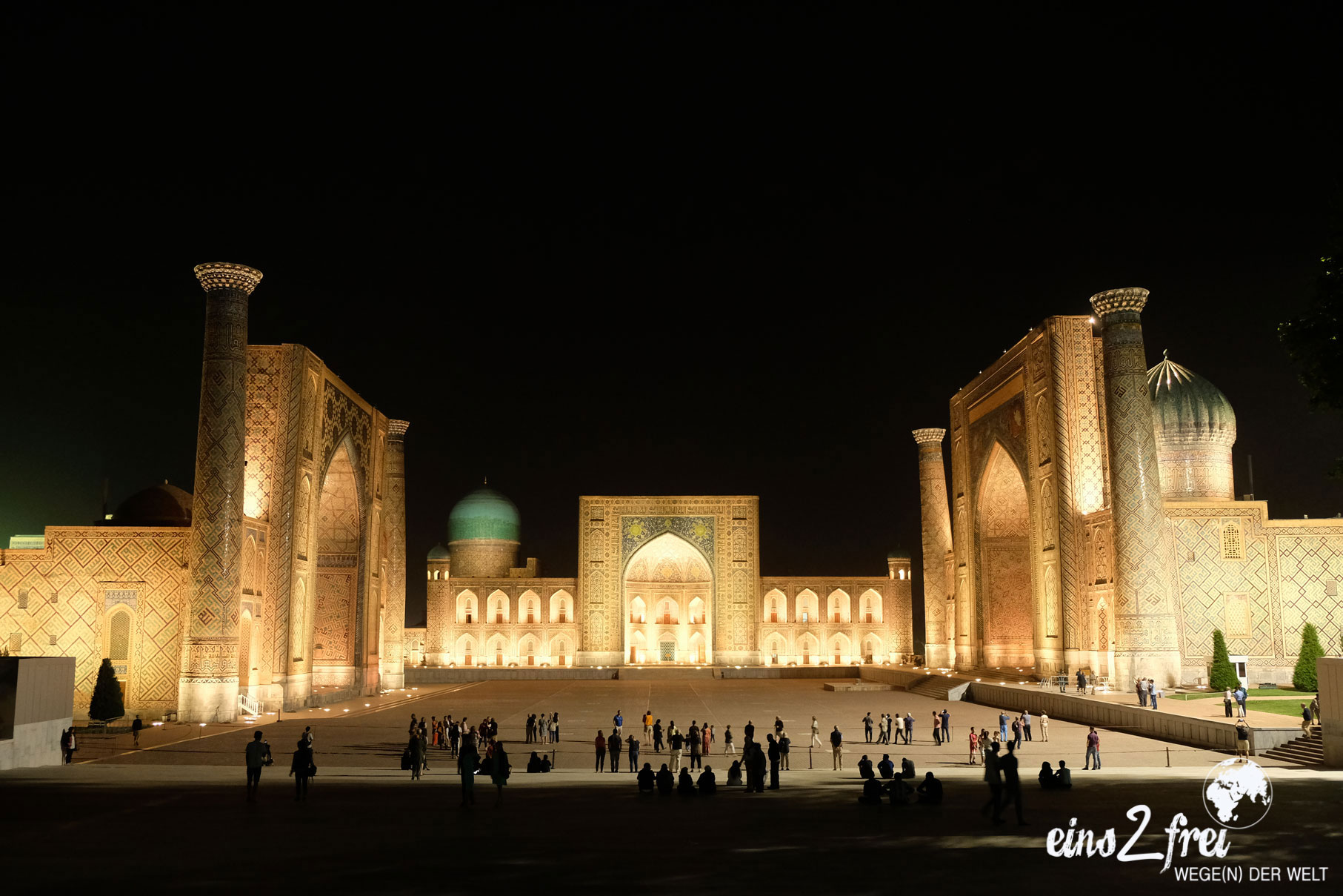"""Unser liebstes Bild in der Kategorie """"Nachtaufnahme"""": Registan. Samarkand, Usbekistan. Mai 2017."""