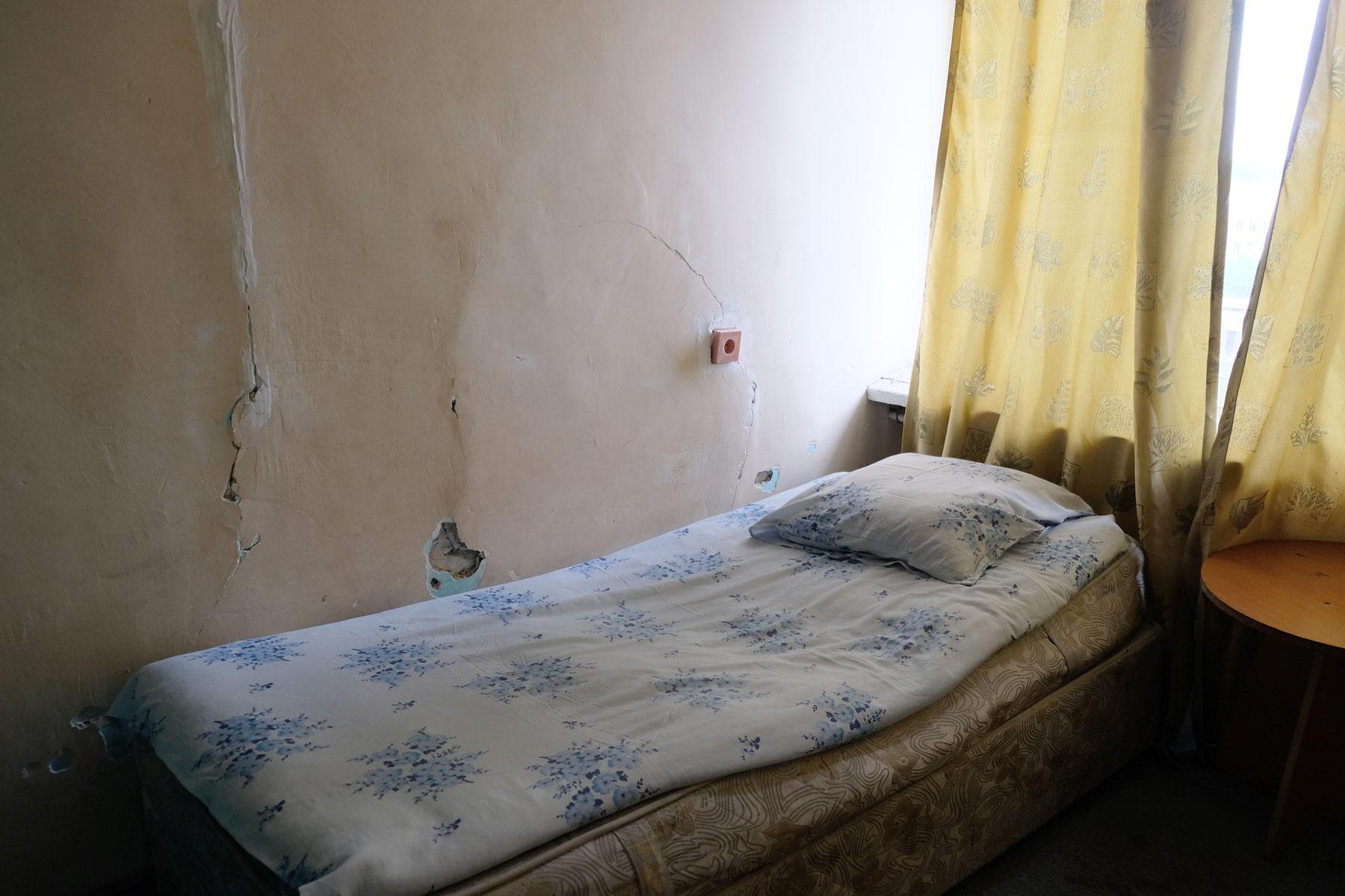 """Traumzimmer für 35 Dollar? """"Hier nicht!"""", sagen wir uns und verlassen das Hotel wieder."""