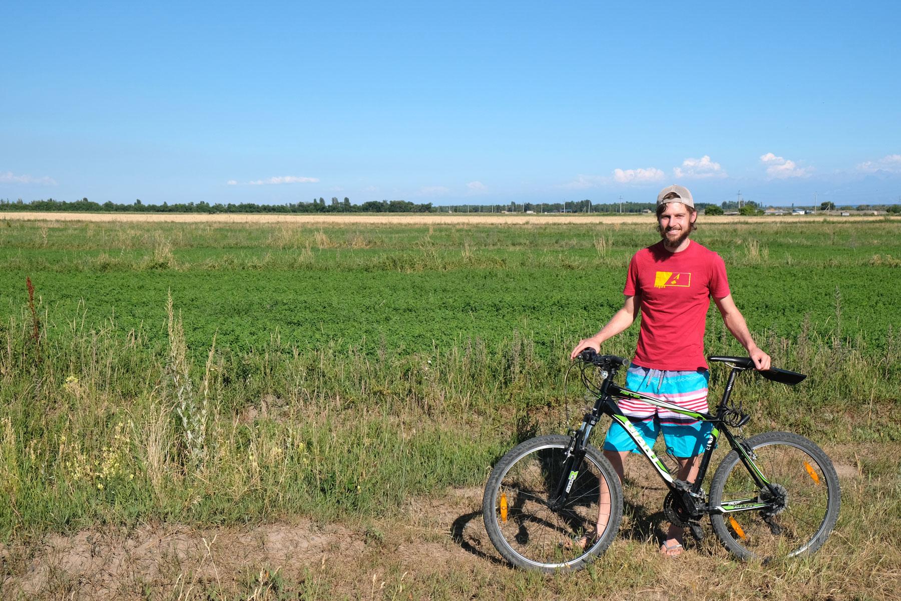 An unserem letzten Tag wagen wir uns noch einmal auf die Mountainbikes und fahren in Richtung See.
