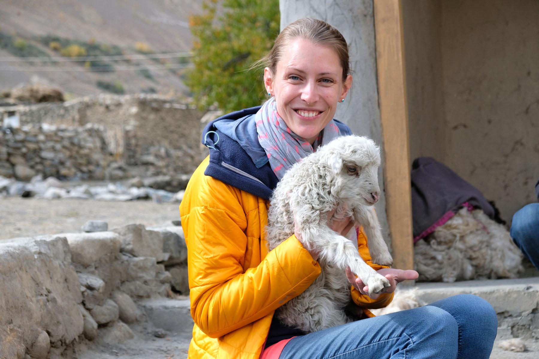 Schaf geschenkt bekommen? Es hat nicht in den Rucksack gepasst und durfte doch in Shimshal bleiben :-)