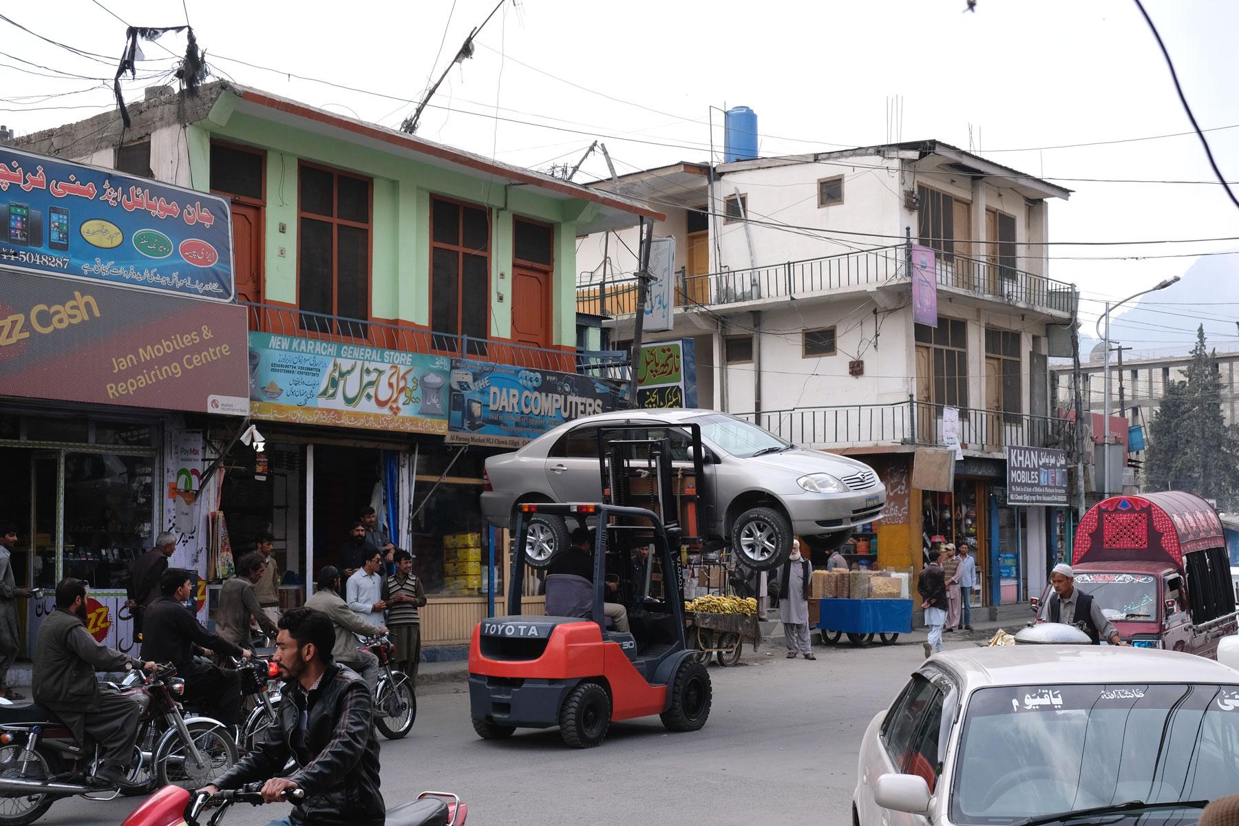 Autoabschleppen in Gilgit