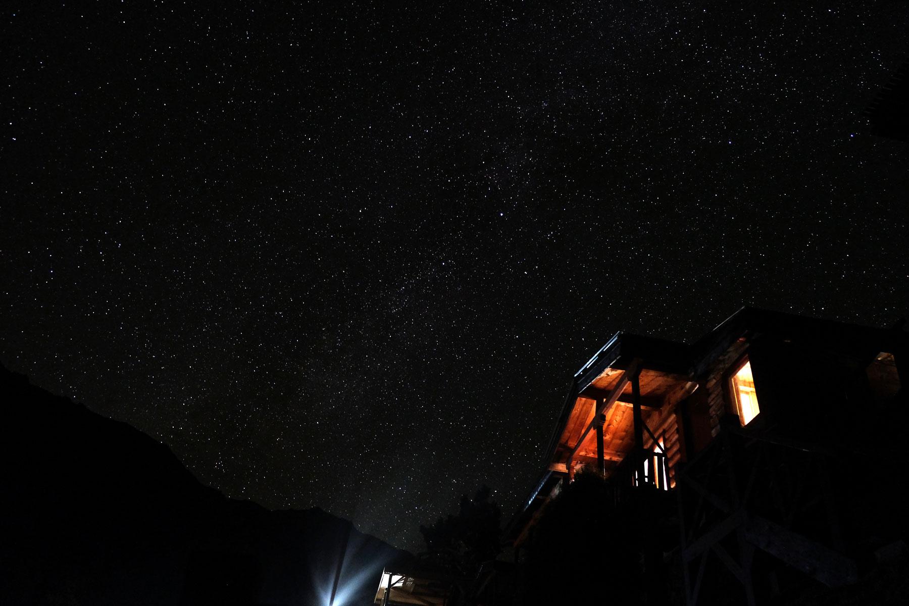 Der Sternenhimmel über Fairy Meadows. Alleine dafür hat sich das Frieren nachts gelohnt!