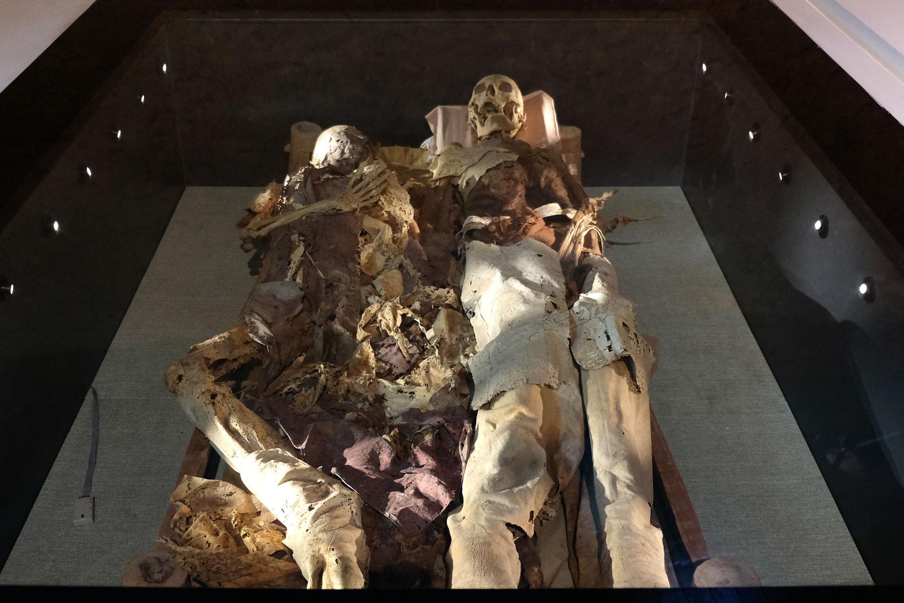 Erstaunlich gut erhalten sind auch diese in Turpan gefundenen Mumien