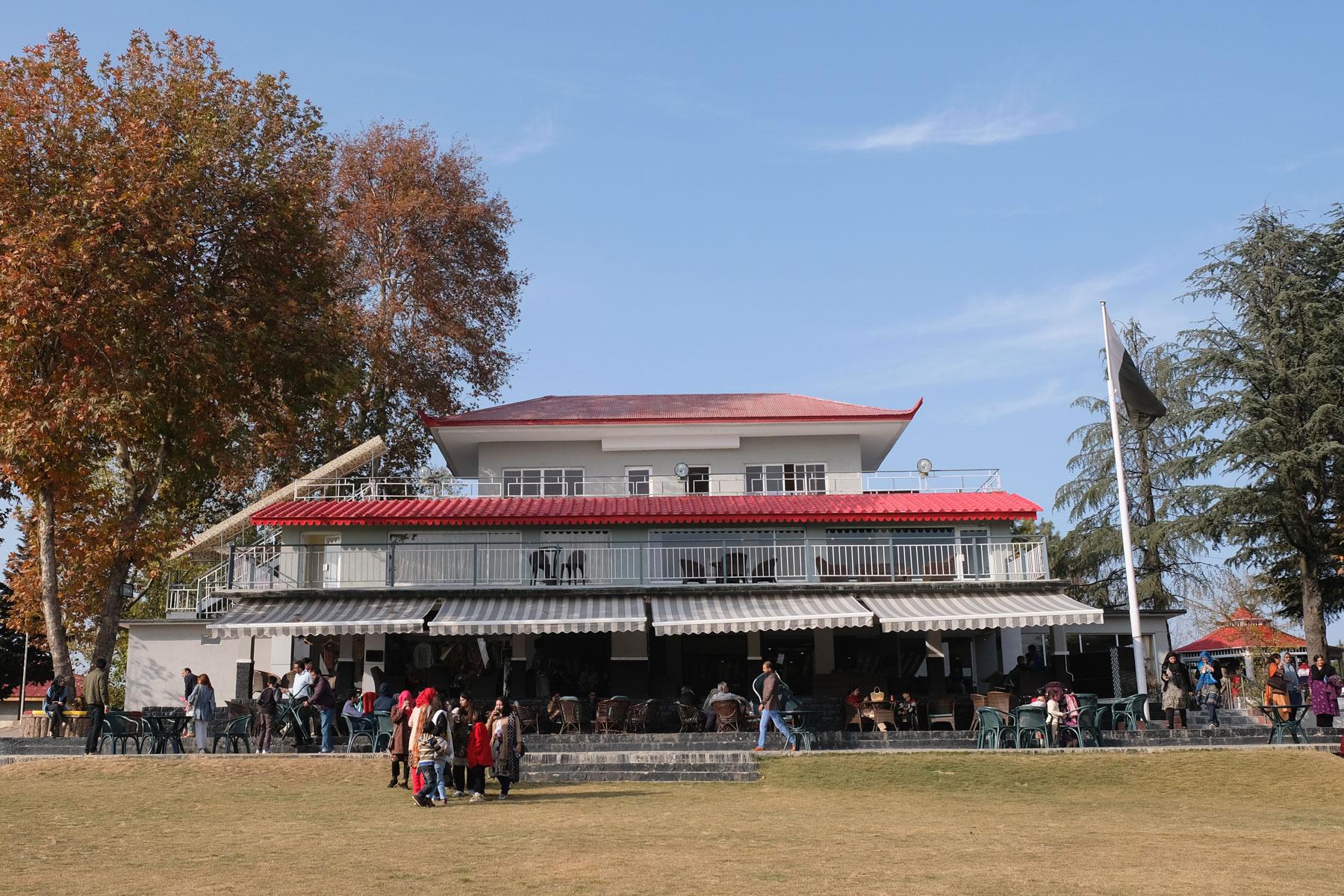 Das schicke Clubhaus
