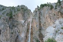 "Geschafft! Wir sind angekommen am ""Großen Wasserfall""."