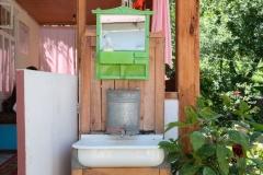 Die sanitären Einrichtungen sind wie so oft einfach, aber funktional