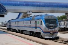 """""""Türkmenistan""""-Beschriftung ist angesagt. Auf Zügen..."""