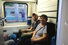 Nachdem wir einen Plausch mit den mitreisenden Fahrgästen gehalten haben...
