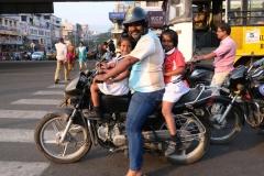 ...wenn sie nicht selbst Motorrad fahren.