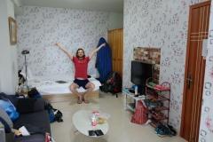 Unser Rückzugsort in Chengdu ist klein, aber fein. Wir fühlen uns sofortwohl in unserer kleinen 1-Zimmer-Wohnung.