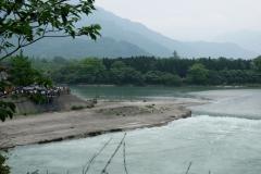 """Das """"Fischmaul"""" ist Teil der Konstruktion, die die Wassermassen teilt und genau so viel Wasser in die Ebene von Chengdu leitet, wie sie verkraften kann"""