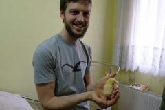Sebastian ist begeistert von den momentanen Mitbewohnern Refiks :-)