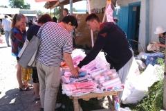 Auch einen Plastiktüten-Verkaufsstand haben wir bis dato noch nirgends gesehen