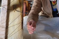 Viele, viele dünne Fäden ergeben einen dickeren Seidenfaden