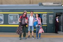 Ein letztes Abschiedsbild mit Haoyu und weiter geht die Fahrt - zum ersten Mal nach Westen statt nach Osten...