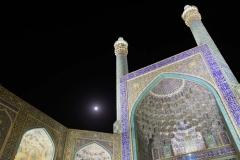 Naqsh-e Jahan Moschee mit Vollmond