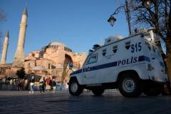 Sicherheitsvorkehrungen im touristischen Zentrum