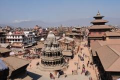 Gemeinsam mit Banu machen wir einen Ausflug zum Patan Durbar Square, einer der drei alten Königsstädte im Kathmandu Tal