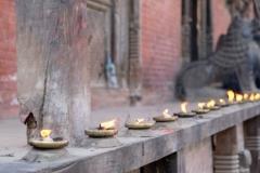 Butterlampen am Tempel