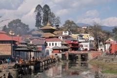 Mit Kabi, einer weiteren Freundin von früher, besuchen wir Pashupatinath, einen der wichtigsten Tempel Nepals. Wir kommen einen Tag nach dem großen Fest Shivaratri und immer noch sind viele Sadhus vor Ort, die extra aus Indien angereist sind und die wie ihre nepalesischen Kollegen vor allem von Gaben leben.