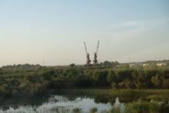 Blick aus dem Zugfenster auf dem Weg von Mary nach Turkmenabad
