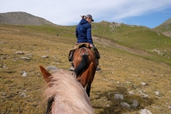 Am zweiten Tag kommen wir viel besser mit unseren Pferden zurecht