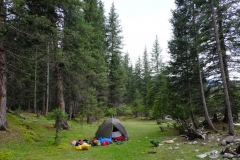 Unser Zeltplatz für die zweite Nacht