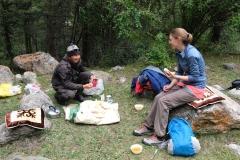 Teatime am am Mittag des dritten Tags