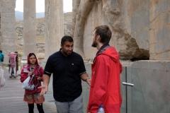 Unser Guide Reza in voller Fahrt :-)