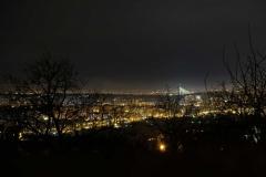 Toller Ausblick vom Garten auf Belgrad bei Nacht