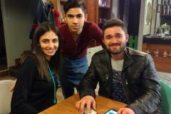Fatihs Studenten üben - verdonnert von ihrem Dozenten - mit uns Deutsch und Russisch :-)