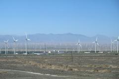 Windkraftanlagen soweit das Auge reicht