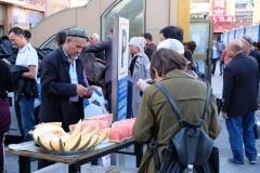 Frische Melonen werden verkauft